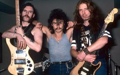 The classic Motorhead line-up. L-R: Lemmy, Philthy Animal Taylor, Fast Eddie Clarke