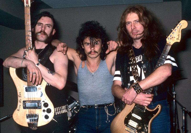 The classic Motorhead line-up. L-R: Lemmy, Philthy Animal Taylor, Fast Eddie Clarke